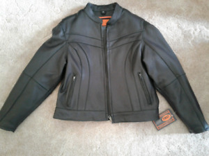 NEW- Leather Motorcycle Jacket     Women's  XL