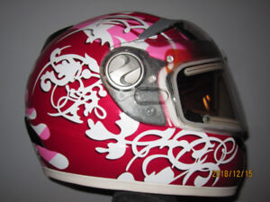 Women's Snowmobile Helmet with Electric Heated Face Shield