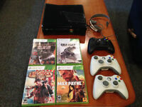 Xbox 360 Slim 250GB + Controllers and Games. Make me an Offer!