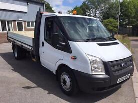 FORD TRANSIT 350LWB FLAT BED PICK UP 2.2 TWIN REAR WHEEL 125 BHP 6 SPEED 2012 62