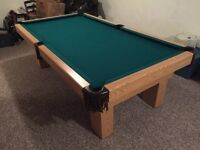4x8 Dufferine Pool Table delivered/installed with new felt