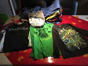 153 ITEM OF BOYS CLOTHING LIKE NEW AND SOME NEVER WORN.