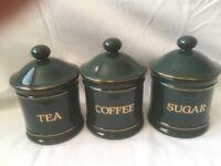 Tea Coffee & Sugar Cannisters