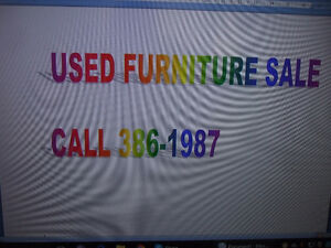 USED FURNITURE SALE - CALL 386-1987