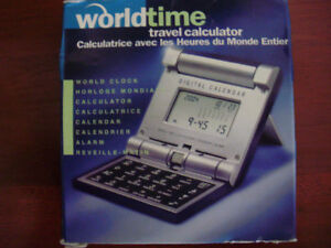 World Time Travel Calculator Clock for Sale