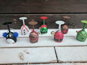 Christmas Themed Wine Glass Candle Holders Peterborough Peterborough Area image 1