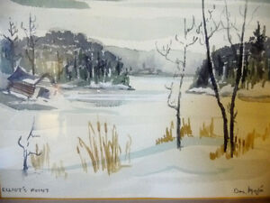 Two Beautiful Watercolor Farming Landscapes by Des Major 1985 Stratford Kitchener Area image 7