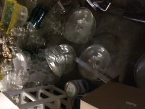 Glass wear vases bottles plates and much more