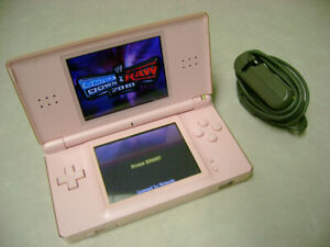 Nintendo DS Lite Pink w/ charger & Game
