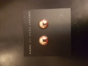 Brand new Marc Jacob Rose gold stud earrings for sale!