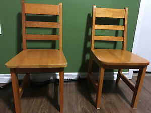 2 Solid wood kids chairs