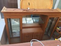 Large display cabinet with lighting, comes in two halves
