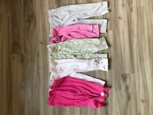 Lot of 5 girls capris size 4T