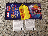 2 Alton towers tickets 16/09/16