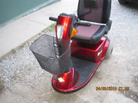 Pride sundancer mobility scooter with warranty