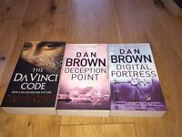 3 brand new Dan Brown books