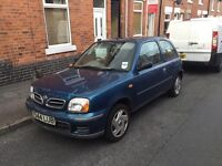Nissan Micra 2001 Blue 100k Miles 1.0 ltr Great First Car or Cheap Run around