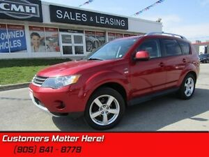 2009 Mitsubishi Outlander XLS   4X4, LEATHER, SUNROOF, HEATED SE