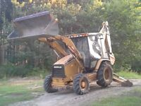 trade backhoe services for unused item
