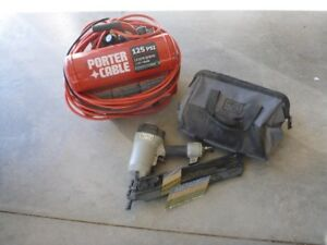 Porter Cable 3 1/2 inch air nailer and compressor combo
