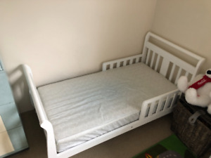 White Wood Toddler bed frame