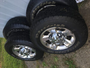 LT 265-70-17 , 8 x 6.5 ALL SEASON TIRES AND RIMS. $800 OBO