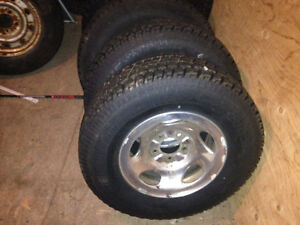 Winter Tires Four-245/75r16 on 2002 ford f-150 rims