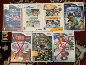 Jeux Wii divers (15$ chacun)