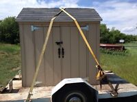 Got to get the shed off trailer soon
