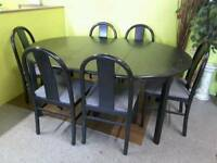 Dining Table & 6 Chairs - Can Deliver For £19