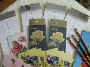 CLASSY  VINTAGE BRIDGE or  PLAYING CARD TALLY  PADS/ MARKERS