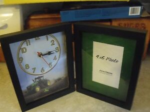 "John Deere Clock Picture Frame "" REDUCED """
