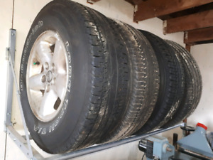 4 tires and rims P225/75/R15