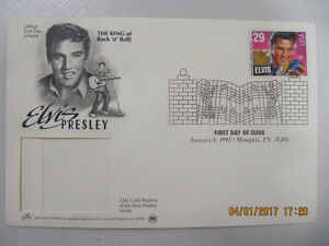 Elvis 29 cent Postage Stamp Official First Day January 8 1993