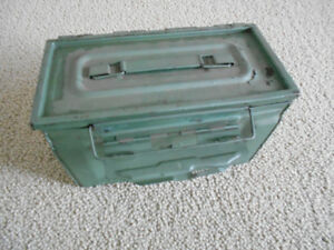 Collectible, Tool Storage,  former Ammunition Box, cal .50 M2