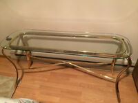 Glass coffee tables- 4 pieces