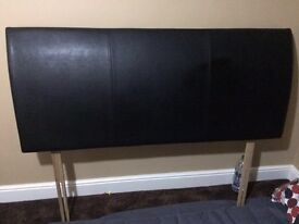 Leather headboard King size excellent condition