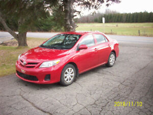 used toyota corolla 2013 sale by owner ottawa / gatineau