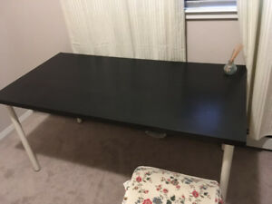 Black Table For Sale $30 size 59x29 1/2 ""