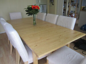 Norden Ikea Birch Extendable Dining Table