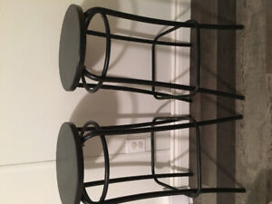 Two Black Stools