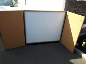 """Large Whiteboard dry erase board 48"""" x 44"""" industrial office"""