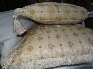 Two Ethan Allen Kensington Pillows Miter Pagoda Sofa Chair USA