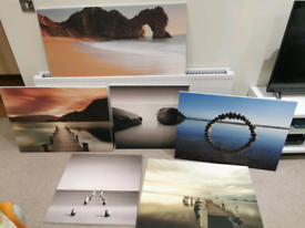 Canvas prints selection of 6 make an offer