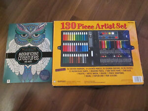 Doodle art coloring book-Art supply set