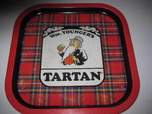 Vintage Beer Tray - Wm. Younger's Tartan - Metal Tray