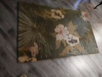 100% Wool Rug 5 ft. 6 in. x 3 ft. 6 in. NEAR NEW