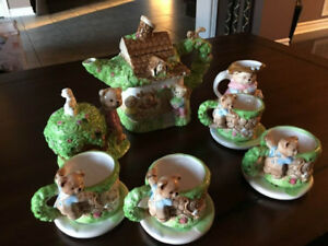 Teddy Bear Ceramic Complete Tea Set