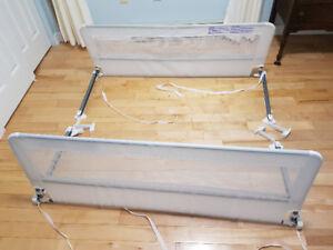 Swing Down Extra Long Bedrail (White)