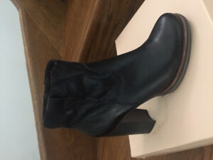 Ankle black boots ( S. Oliver ) Europian brand . Brand New